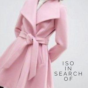 ISO ASOS Oasis Pink Swing Coat